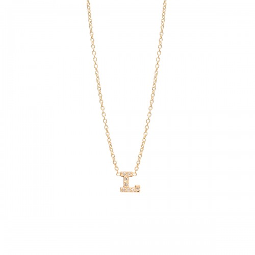 Zoe Chicco Diamond Initial Necklace Covered With Pave Diamonds