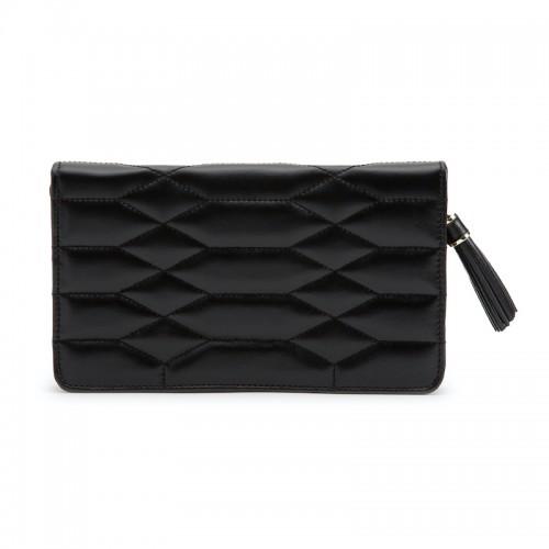 WOLF1834 Leather Caroline Jewelry Portfolio In Black