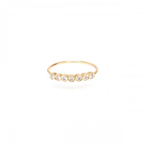 Zoe Chicco 7 Horizontal Bezel Set Diamond Ring