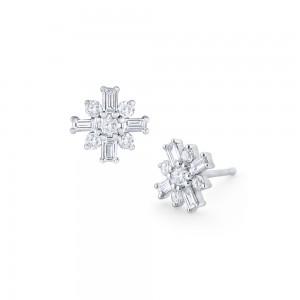 PD Collection Diamond Mosaic Stud Earrings