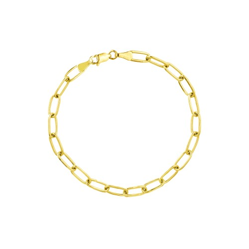 PDCollection 14k Gold Paper Clip Chain Bracelet