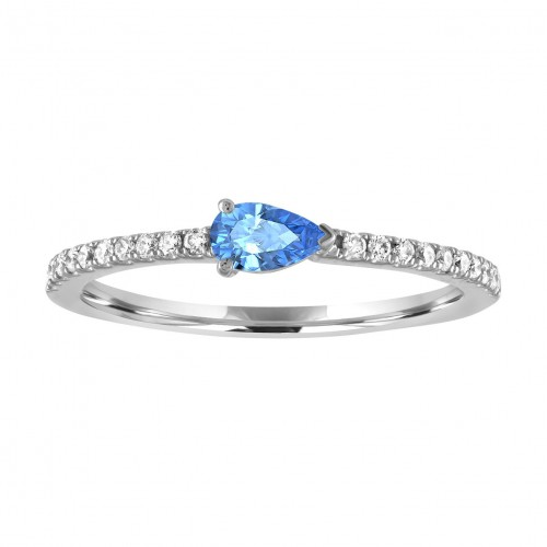 My Story The Layla Blue Topaz Ring in Rose Gold