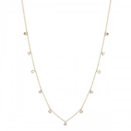 Zoe Chicco 11 Diamond Station Necklace