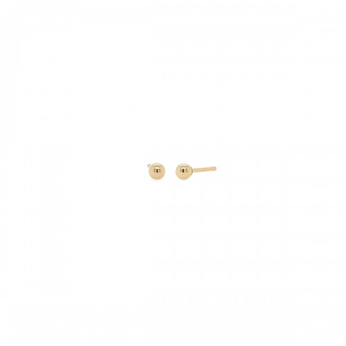 Zoe Chicco 3mm Ball Stud Earrings Pair