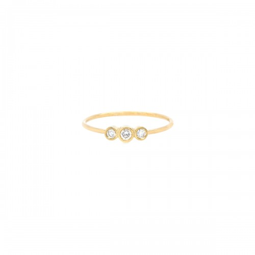 Zoe Chicco 3 Graduated Bezel Set Diamond Ring