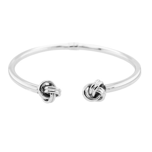 PD Collection Sterling Silver Double Knot Cuff