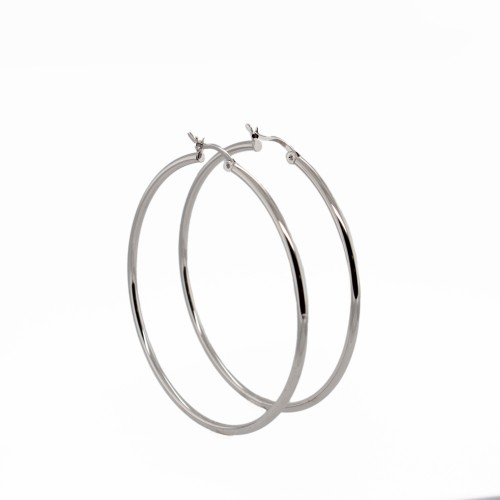 PDC SS 50Mm High Polished 2Mm Round Tube Hoops