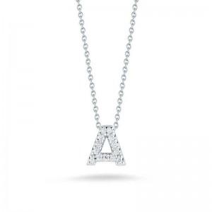 Roberto Coin 18Kt Gold Love Letter A Pendant With Diamonds