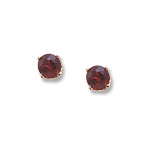 Pd Collection Yg 4Mm Garnet Earrings