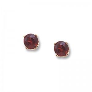 Pd Collection Yg 4Mm Garnet Earrings