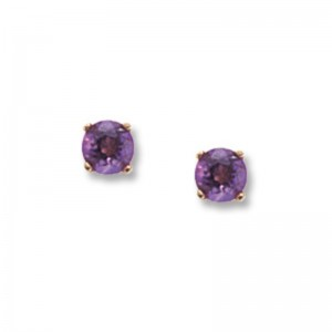Pd Collection Yg 4Mm Amethyst Earrings