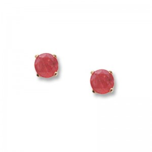 Pd Collection Yg 4Mm Ruby Earrings