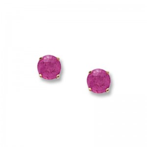 Pd Collection Yg Pink Tourmaline 4Mm Earrings