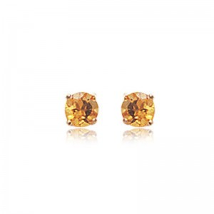 4MM CITRINE EARRINGS