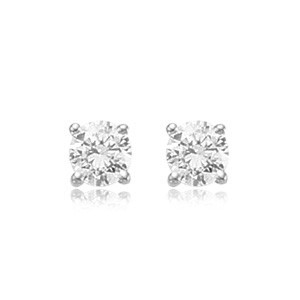 2 Ctw CZ Stud Earrings