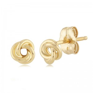 PD Collection Yg Small Love Knot Earring