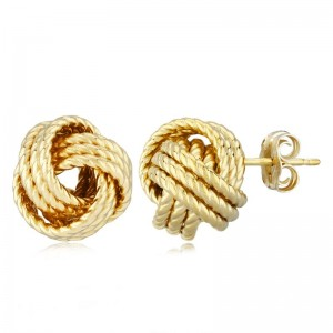 PD Collection Yg Twisted Love Knot Earring