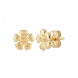 Gold Daisy Flower Earrings