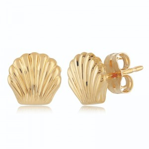 PD Collection Yg Flat Seashell Earrings
