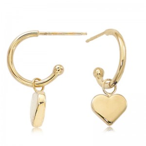 Pd Collection Yg Huggies With Flat Heart Dangle