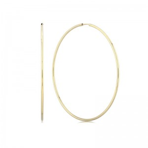 1.5X60MM ENDLESS HOOP EARRINGS