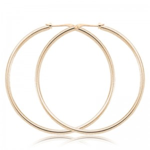 Pd Collection Yg 1.5X50Mm S/D Hoop Earrings