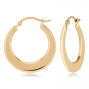 PD Collection Yg Flat Hoop Earrings