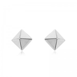 Pd Collection Wg 6Mm Pyramid Post Earrings