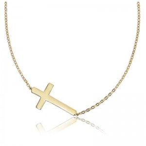 Pd Collection Yg Plain Cross Necklace