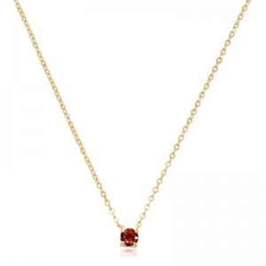 Pd Collection Yg 4Mm Garnet Necklace