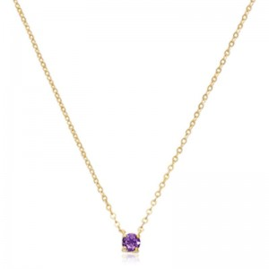 Pd Collection Yg 4Mm Amethyst Necklace