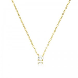 Pd Collection Yg 4Mm Wg Topaz Necklace