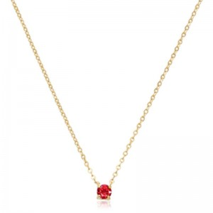 Pd Collection Yg 4Mm Ruby Necklace