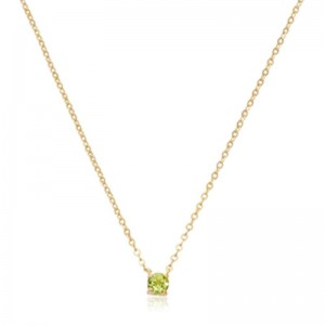 Pd Collection Yg 4Mm Peridot Necklace
