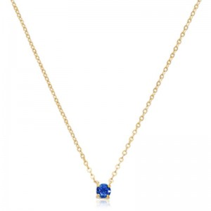 Pd Collection Yg 4Mm Sapphire Necklace