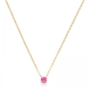 Pd Collection Yg 4Mm Pink Tourmaline Necklace