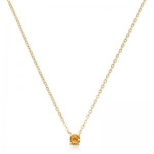 Pd Collection Yg 4Mm Citrine Necklace