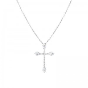 Roberto Coin  White Gold Diamond Cross