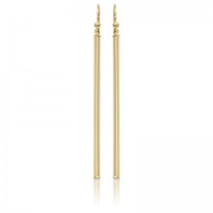 Pd Collection Yg Long Column Drop Earrings