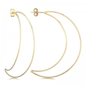 Pd Collection Yg Crescent Moon Earrings