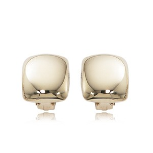 PUFFED SQUARE CLIP ON EARRINGS