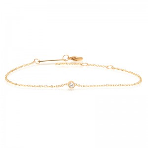 Zoe Chicco Single Bezel Diamond Bracelet | April Birthstone