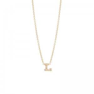 Zoe Chicco pave diamond single initial