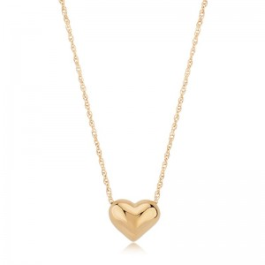 PD Collection Yg Puffed Heart With Rope Chain Necklace