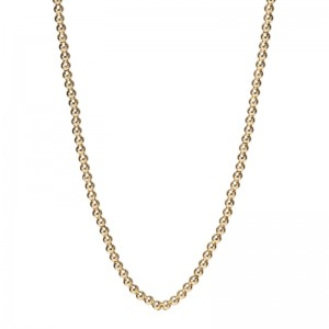 Zoe Chicco Small Gold Bead Necklace