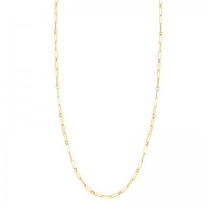 Roberto Coin 18K Fine Paperclip Link  17