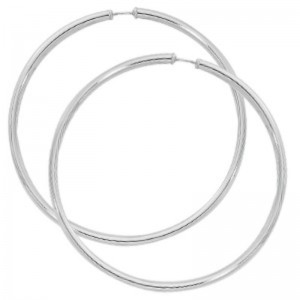 Pd Collection Ss 3X70Mm Hoop Earrings