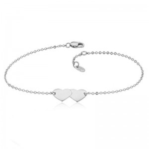 Pd Collection Ss Double Heart Bracelet 7.5