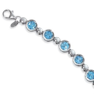 PD Collection Ss 12-6Mm Blue Topaz Bracelet