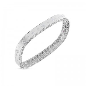 Roberto Coin White Gold Princess Diamond  Bangle